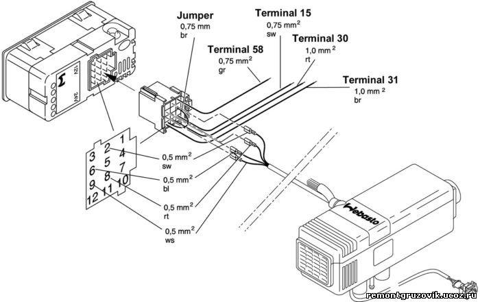 Schema Elettrico Webasto Air Top 2000 : Webasto air top s электросхема подключения статьи